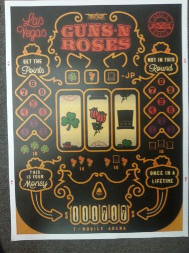 Guns n Roses   tour poster  Not In This Lifetime tour 11/17/17