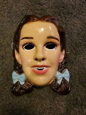 Vintage Wizard of Oz Dorothy Halloween Mask Judy Garland Movie Hollywood Dorthy