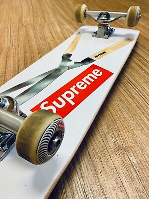 Supreme Skateboard Shears Complete white+classic wheels set+independent truck