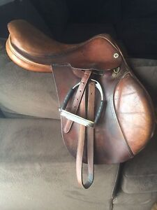 "NEW PRICE 16.5"" Cliff Barnsby Whitaker English Saddle"