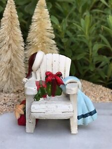 Miniature Dollhouse FAIRY GARDEN ~ BEACH Sea CHRISTMAS Adirondack Chair ~  NEW