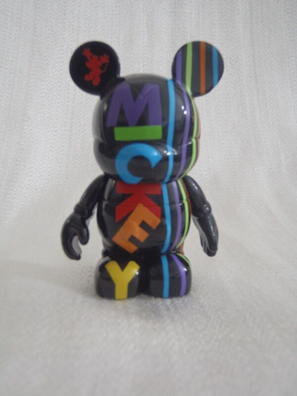 "Disney Vinylmation Oh Mickey Mouse Series - Black Name Letters Colors 3"" Figure"