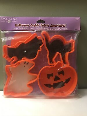 Vintage Forget Me Not American Greetings Halloween Cookie Cutter Assortment NOS