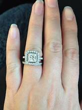 1.55 carat Princess cut diamond ring Moggill Brisbane North West Preview