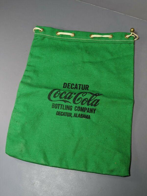 VINTAGE DECATUR. COCA -COLA PULL STRING MONEY DEPOSIT BAG--,ALABAMA