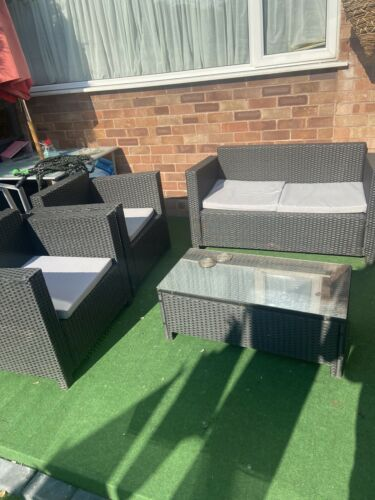 Garden Furniture - Black PolyRattan Garden Furniture