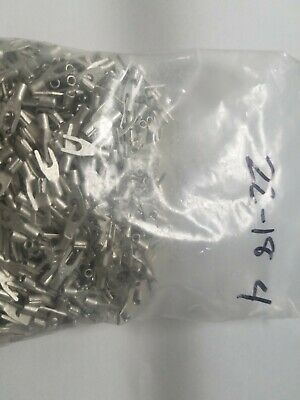 100 Spade Fork Terminal Connector Non-insulated Uninsulated 22-18 Awg Gauge 4