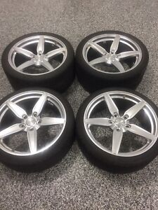 Braelin 20 inch rims + winter tires 5x 130 bolt pattern Porsche