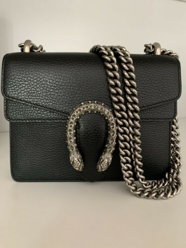 dionysus black leather mini bag