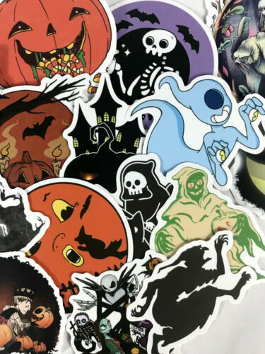 50pc Random Spooky Halloween TNBC Scrapbook Laptop & Phone Decal Stickers