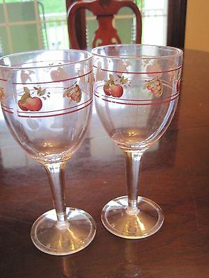 Pfaltzgraff Delicious apple plastic melamine water goblets drinking - Plastic Water Goblets