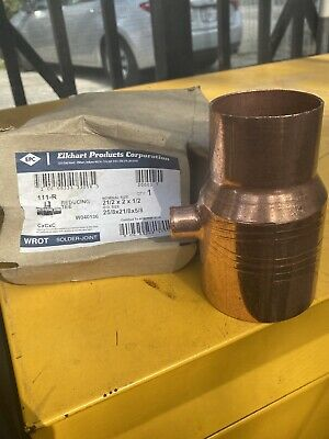 Elkhart Copper Reducing Tee-33056- 212x 2x12