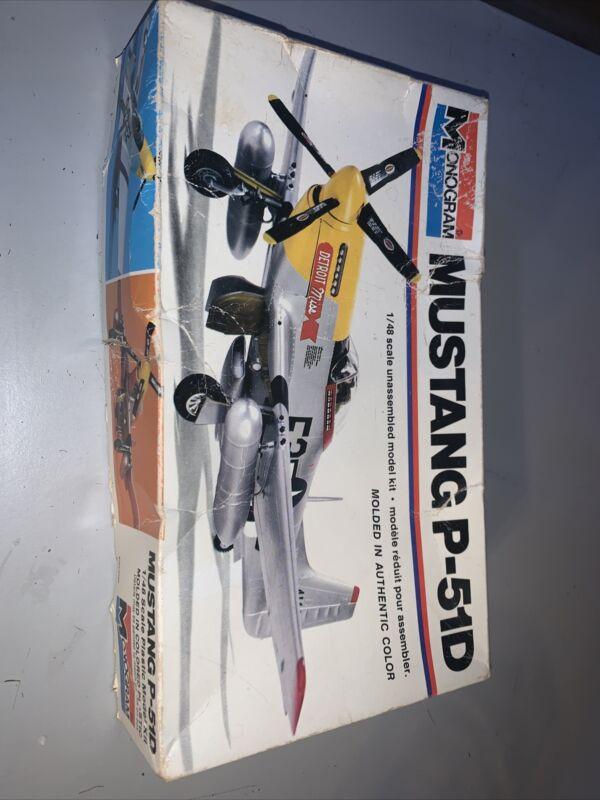 1:48 scale Vintage 1977 Monogram North American P-51D Mustang