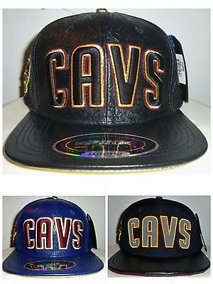 NEW CLEVELAND CAVS CAVALIERS NBA PRO STANDARD LEATHER HAT (PICK A COLOR) NWT!  - Cavs Colors