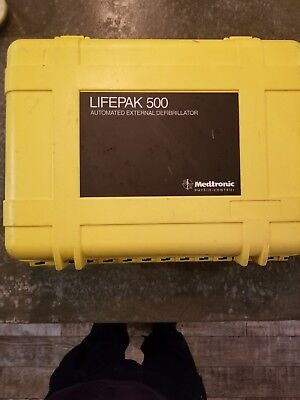 Lifepak 500 External Aed Defibrillator Carrying Pelican Case