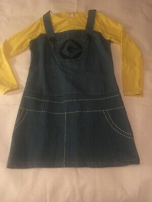 Teen Size Small Despicable Me 2 Girl Female Minion Costume Dress Rubies EUC