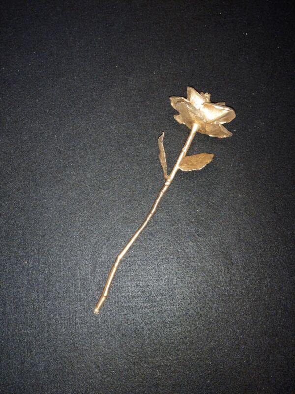 Vintage 24K Rose Co. Real Rose Dipped 24K Gold