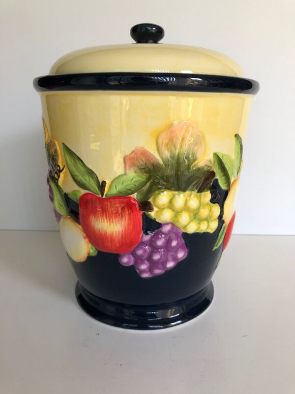 """Made For Nonni's Hand Painted 9.5"""" Tall Cookie Biscotti Jar Canister"""