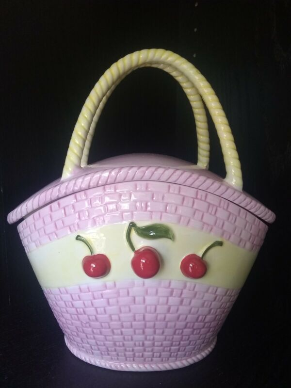 NEW Cherries / Cherry Canister - Cookie Jar Free Shipping