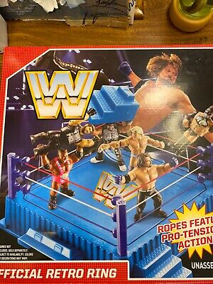 WWE Mattel Retro Wrestling Ring Wwf Retro Style Rare Ring New Official Retro