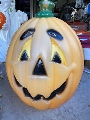 "Vintage General Foam Plastics 24"" Halloween Jolly Pumpkin Blow Mold"