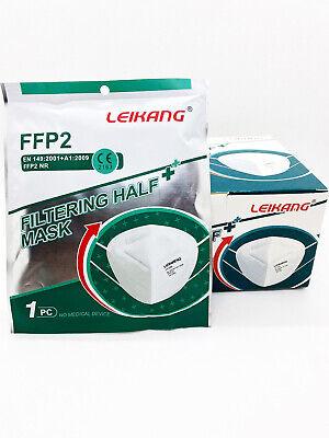 40x FFP2 Maske LEIKANG Mundschutzmaske 5 lagig Masken CE2163 Einzelverpackt