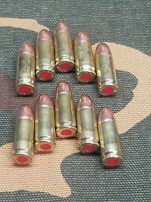 9MM LUGER SNAP CAPS  SET OF 10 (BRASS) REAL -