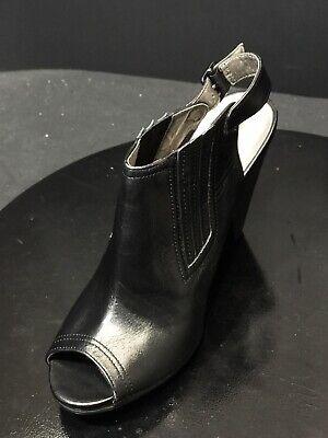 New Tesori Chopsling Slingback Leather High Heel Women Black Shoes Size US 6.5 M New Black High Heel Slingback