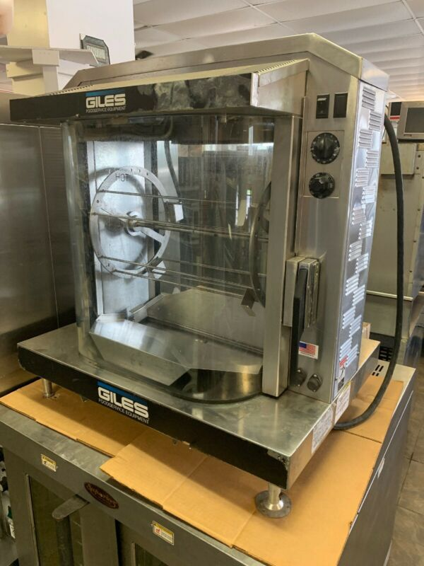 Giles RT-5 Electric Rotisserie Oven - Commercial Hot Case With Skewers