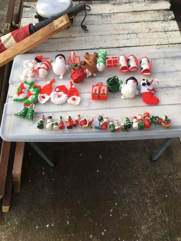 Lot of 41 Handmade Vintage Christmas Ornaments LOCHDBXMASBOX1