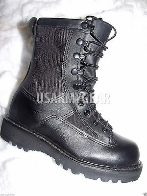 Youth Kids Boys US Army Military Leather Waterproof Goretex Boots Belleville GI