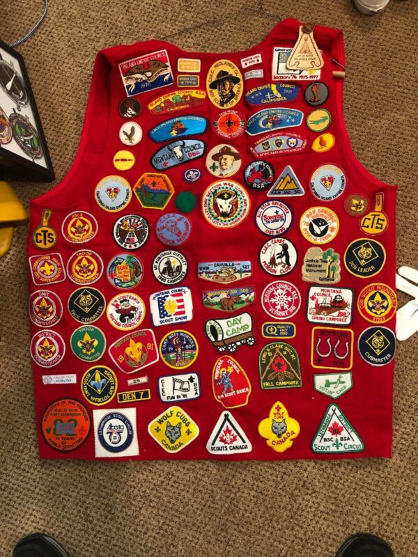 BSA Felt Scout Vest Loaded With Wonderful Patches