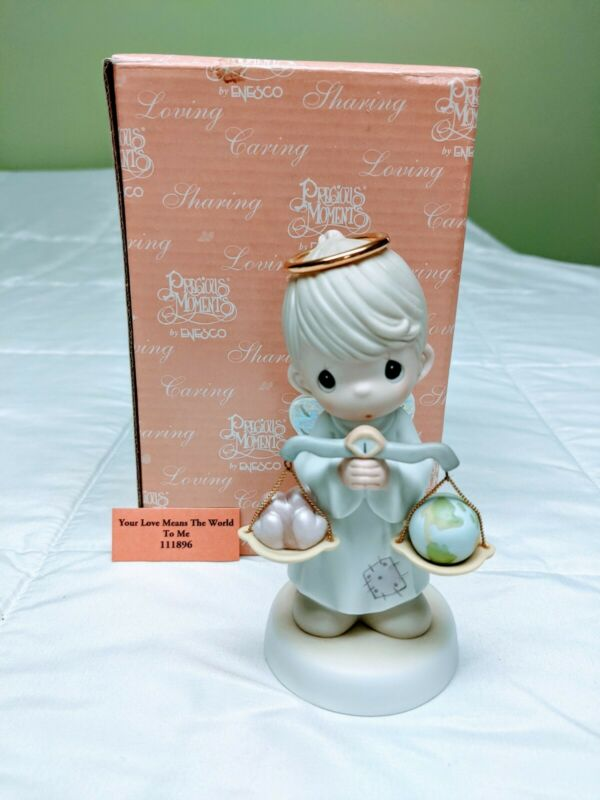 Precious Moments Figurine - Your Love Means The World To Me #111896: Pre-Owned