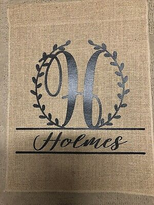 Personalized Burlap Garden Flag - Personalized Garden Flags
