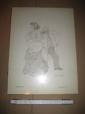 Akt Zeichnung Bild Karikatur v Christiane Kayser aus Arzt Praxis Arztpraxis 619
