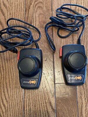 Set of 2 Genuine Atari 2600 Driving Racing Paddles Controllers