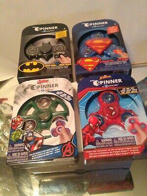 NEW Marvel Avengers Fidget Spinners BATMAN Hulk Superman Spiderman 4 GIFT SET