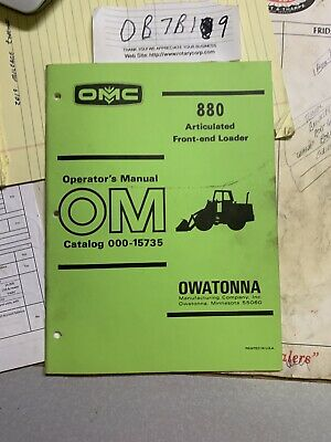 Oem Factory Omc Mustang 880 Front End Wheel Loader Operators Manual 000-15735