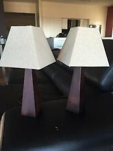 Timber bedside lamps x 2 Waratah Newcastle Area Preview