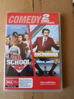 Comedy movie two pack DVD set old school uncut and Anchorman