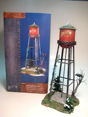 DEPT 56 SNOW VILLAGE - 2000 BUCKS COUNTY WATER TOWER #55111 - Retired 2003 Lot A
