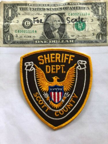 Rare Scott County Iowa Police Patch Un-sewn great shape