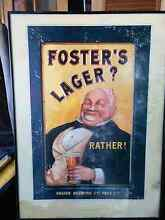 100 year Fosters Lager framed Posters Maidstone Maribyrnong Area Preview