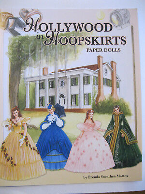 HOLLYWOOD IN HOOPSKIRTS Paper Doll Book w/ 2 Dolls & Gorgeous Movie Costumes!