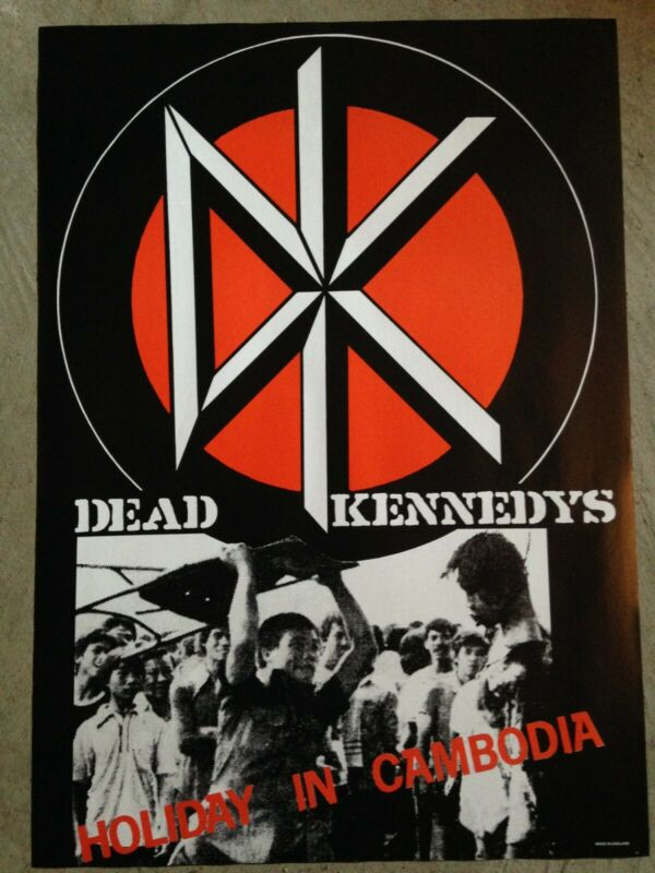 """DEAD KENNEDYS - HOLIDAY in CAMBODIA PROMO POSTER, new23.25""""x32.75"""""""