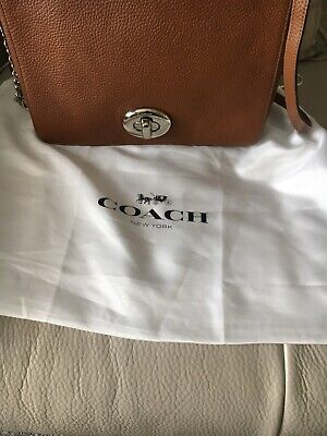 AUTHENTIC COACH BROWN LEATHER BAG