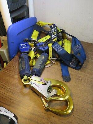 Dbi Sala Twin Nano Lok Full Body Tower Climbing Safety Harness Back Set