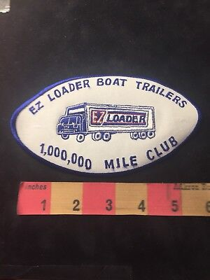 Vtg EZ LOADER BOAT TRAILER MILLION MILE CLUB Trucker Patch Trucking / Truck 86NG
