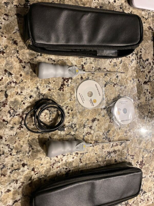 Pair Of Thermoworks Bluetherm Bluetooth Temperature Probe With Cases Software