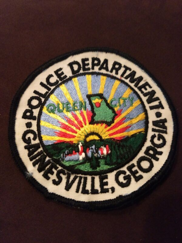 """Gainesville Georgia Police Dept. """"Queen City"""" Police Patch - New"""